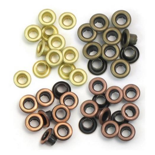 Πριτσίνια Eyelets Standard 60 τεμ We R Memory Keepers - Warm Metal