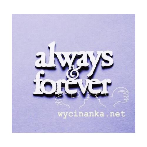 Διακοσμητικά Chipboard «always & forever» , 5x7 cm