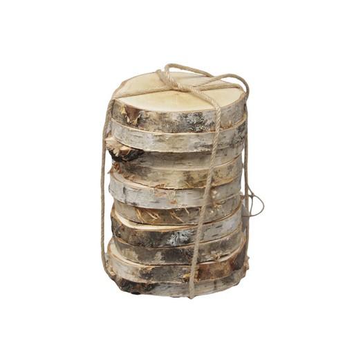 Κορμοί φέτες σημύδας, 12-14cm, 10 τεμ.