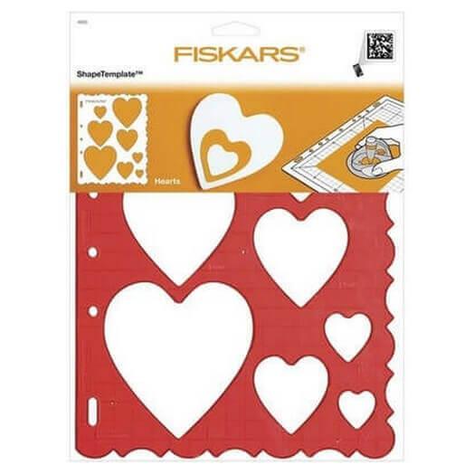 Shape Template Fiskars- Καρδιές