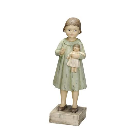 Κοριτσάκι με κούκλα, 9,5xΥ28cm