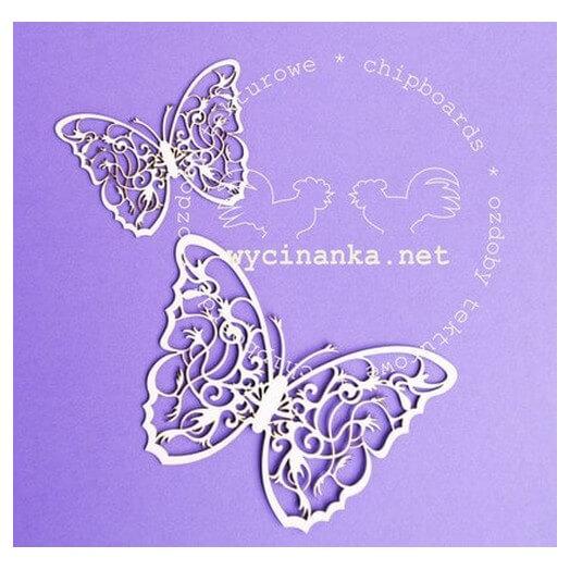 Διακοσμητικά Chipboard Πεταλούδες, 7-10 cm ,2τεμ