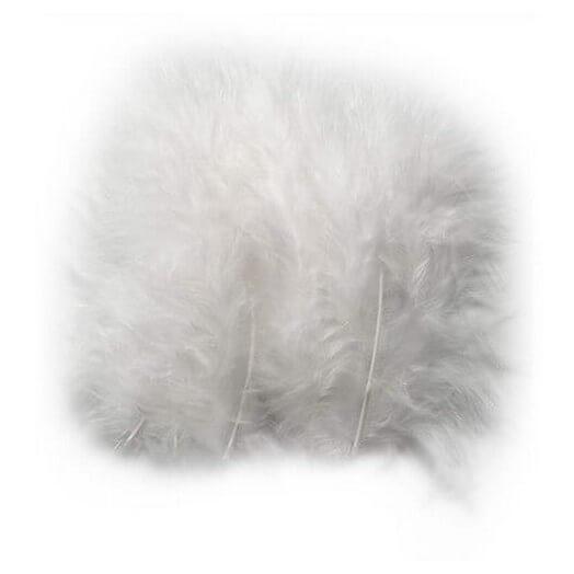 Φτερά 5-12 cm , λευκά - σετ 15τεμ