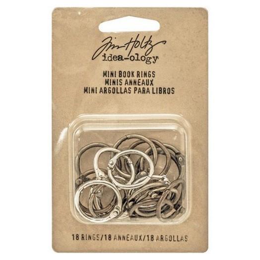 Mini Book Rings Tim Holtz 1,91cm - σετ 18τεμ
