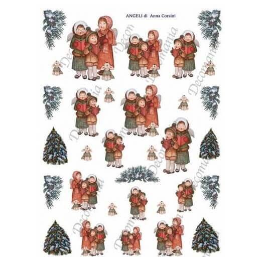 Ριζόχαρτο Decomania 35Χ50cm ,Χριστουγεννιάτικο ,5374