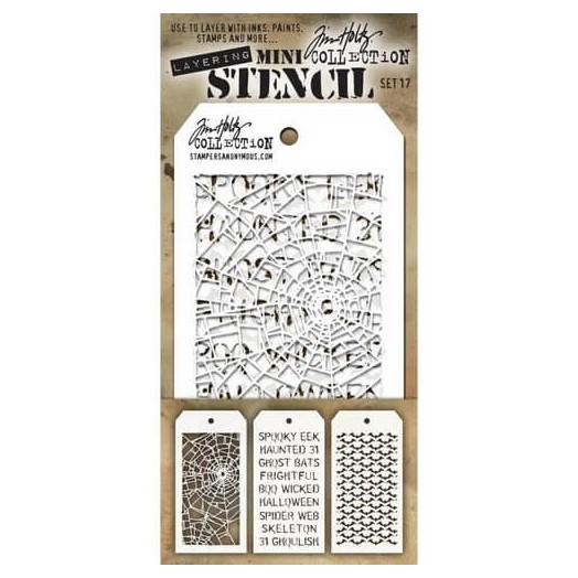 Tim Holtz Mini Layered Stencil 3 τεμ, 16x7,5cm