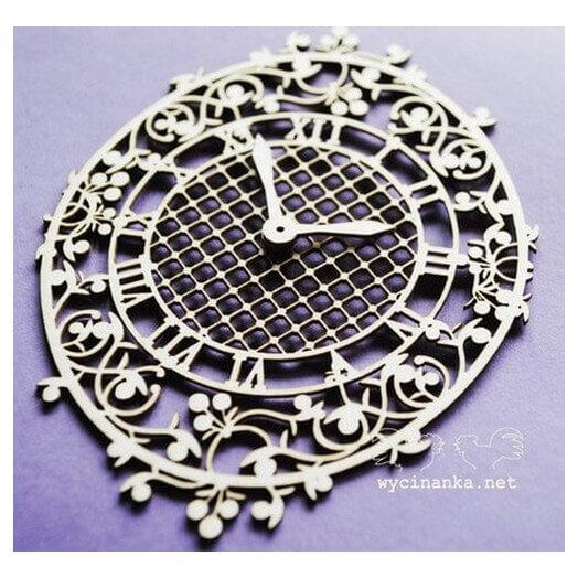 Διακοσμητικά Chipboard Ρολόι, 6,7x10 cm