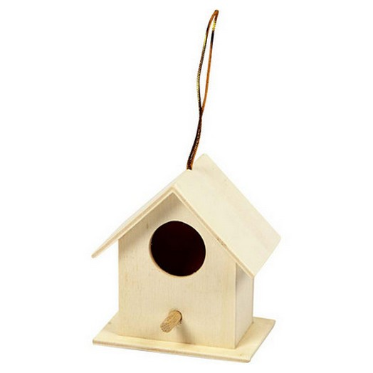 Bird House, 6x6 cm