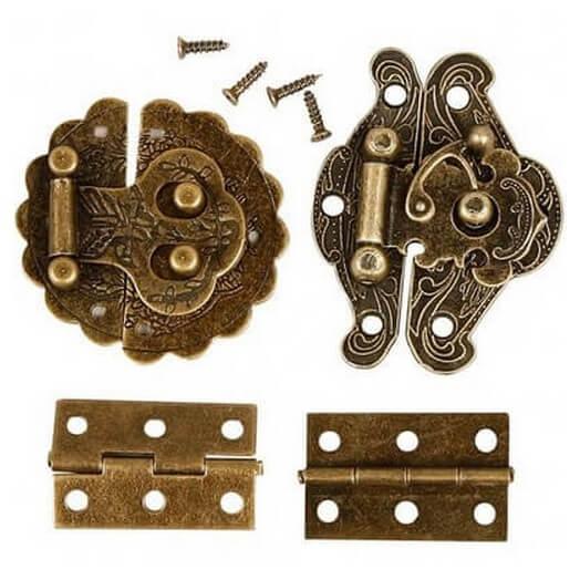 Μίνι Εξαρτήματα Antique Gold 6 τεμ.