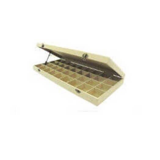Κουτί mdf ξύλινο με 36 θήκες 48,5x21,8x5,2cm