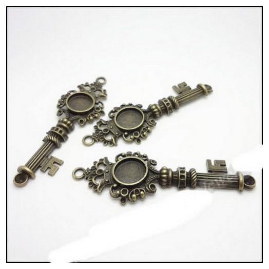Antique Bronze Metal Key 86mm
