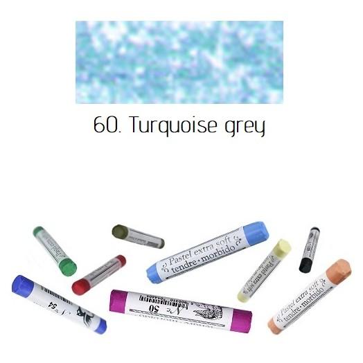 Soft pastel Extrafine Renesans - Turquoise grey