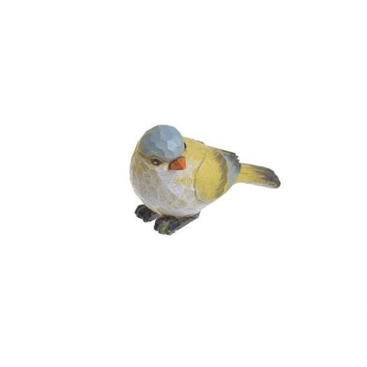 Πουλάκι κεραμικό yellow-blue, 8cm