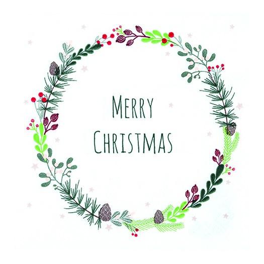 Χαρτοπετσέτα για decoupage, Lucia: Merry Christmas