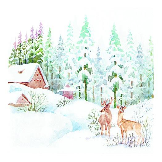 Χαρτοπετσέτα για decoupage, Winter Scene