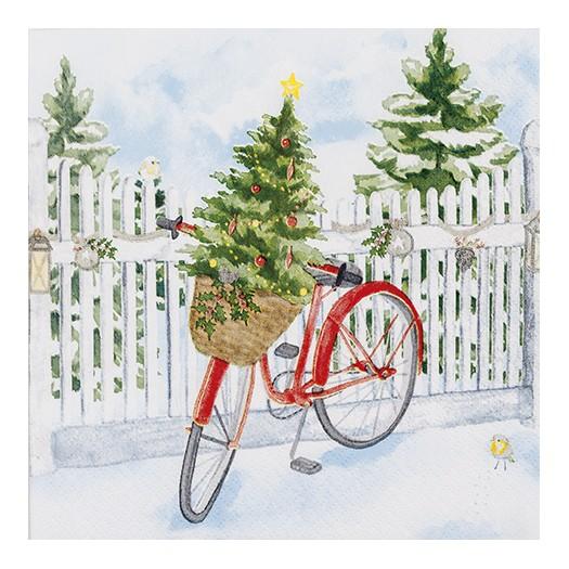 Χαρτοπετσέτα για decoupage, Christmas Bike
