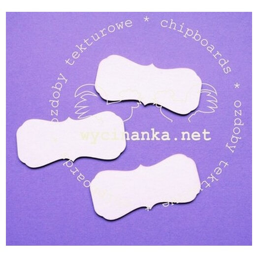 Διακοσμητικά Chipboard tags, 3x7 cm , 3τεμ