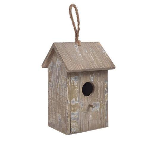 Ξύλινο σπιτάκι πουλιού vintage, 18cm