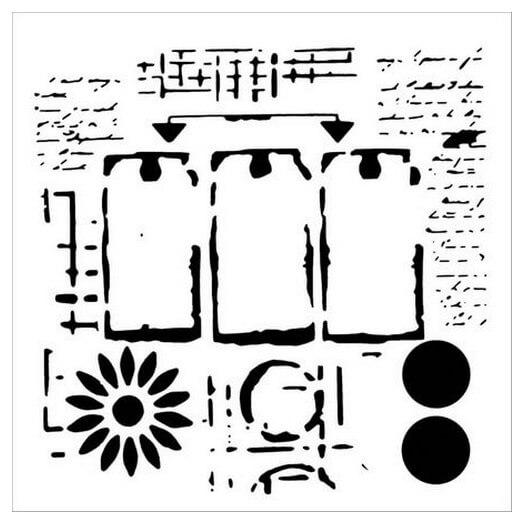 Μάσκα Stencil, Three Tags 30,5x30,5cm