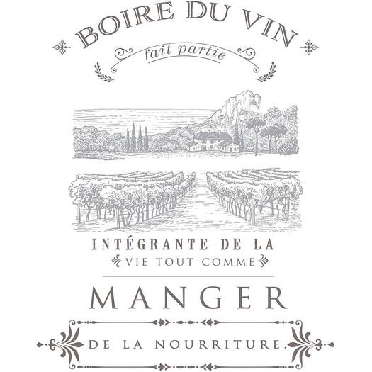 Χαρτί Decor Transfer Prima Re-Design,  Boire Du Vin, 70x85cm