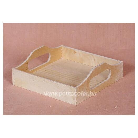 Δίσκος ξύλινος τετράγωνος 16,5x16,5cm