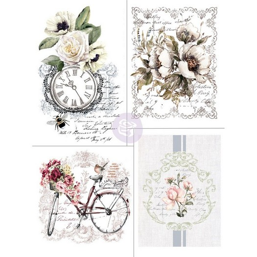Χαρτί Decor Transfer Prima Re-Design, Bike Rides, 4 σχέδια