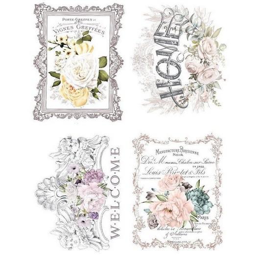 Χαρτί Decor Transfer Prima Re-Design, Floral Home, 4 σχέδια