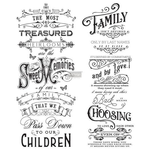 Χαρτί Decor Transfer Prima Re-Design, Family Heirlooms, 61x73,5cm