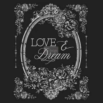 Χαρτί Decor Transfer Prima Re-Design, Love and dream, 56x76cm