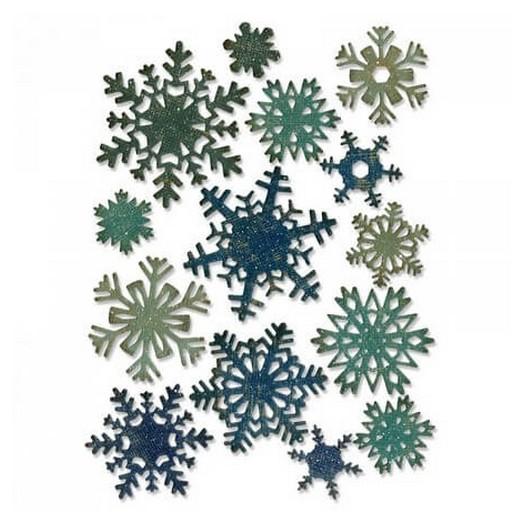 Μήτρα Sizzix ,Paper Snowflakes, Mini - σετ 14 τεμ