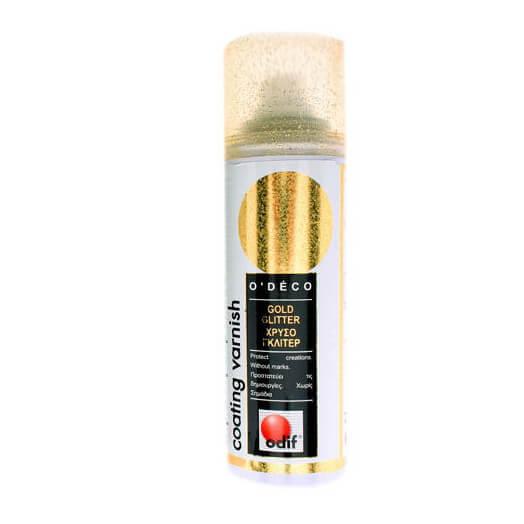 Glitter Σπρέι 125ml Χρυσό ODIF