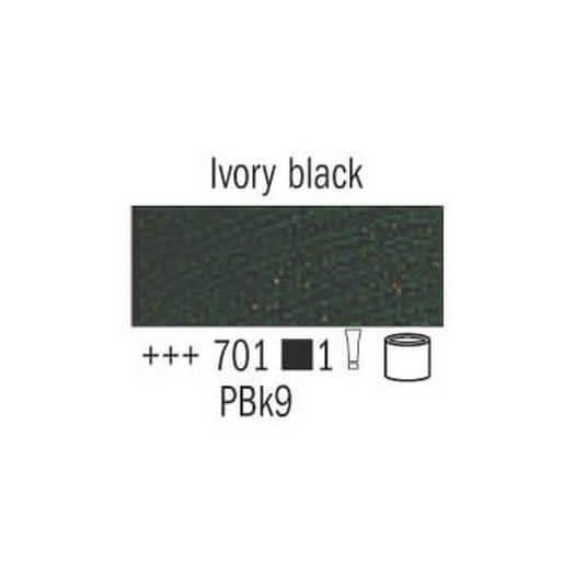 Λάδι Van Gogh Talens 20ml, Ivory Black