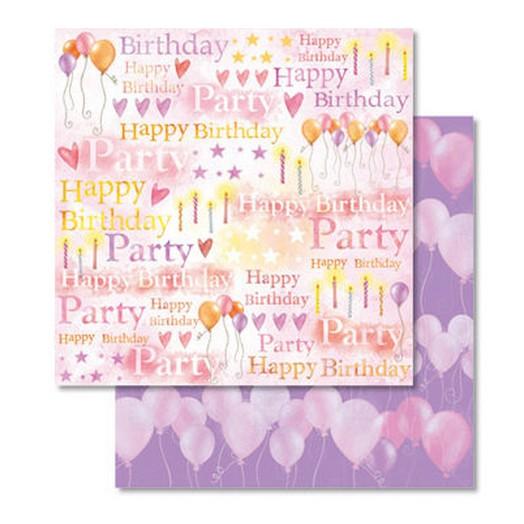 Χαρτί Scrapbooking Ursus με Glitter 30,50x30,5cm , Birthday