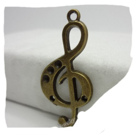 Antique Bronze Metal Note 36mm - 6 τεμ