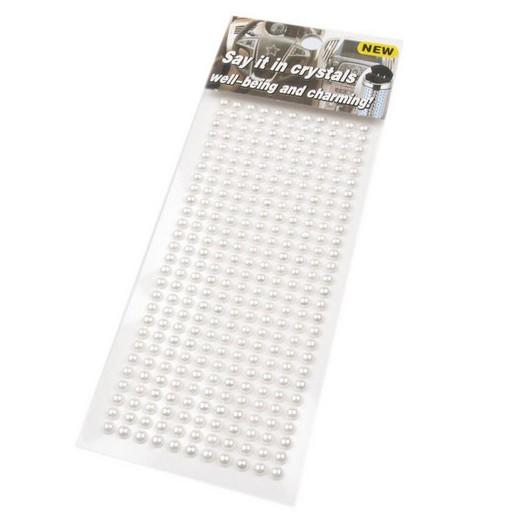Πέρλες αυτοκόλλητες White 4mm ,308 τεμ.