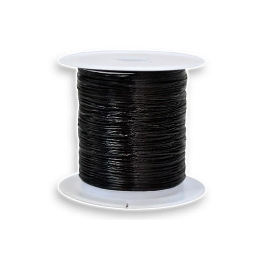 Ελαστικό μαύρο κορδόνι 10m