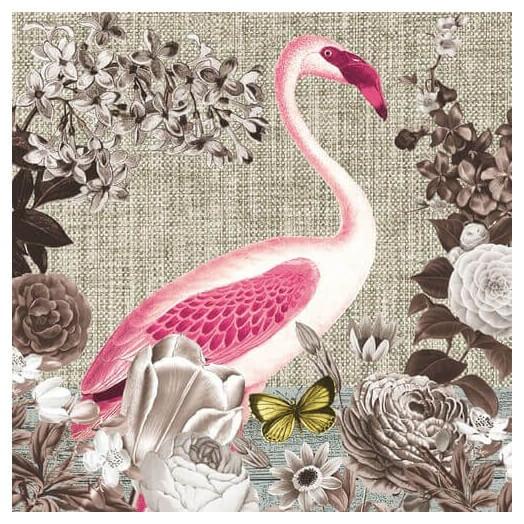 Χαρτοπετσέτα για Decoupage Flamingo Sepia , 1τεμ