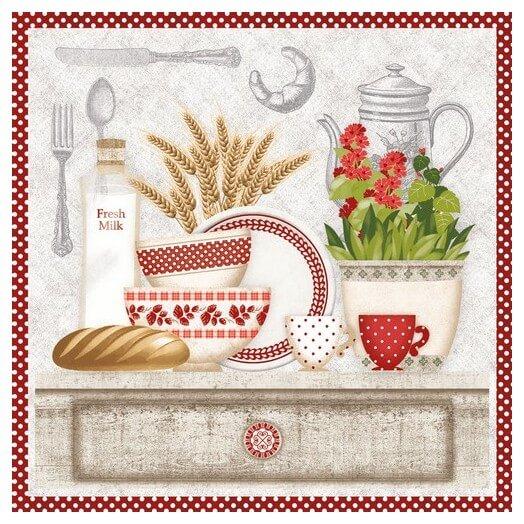 Χαρτοπετσέτα για Decoupage, In the Kitchen, 1τεμ