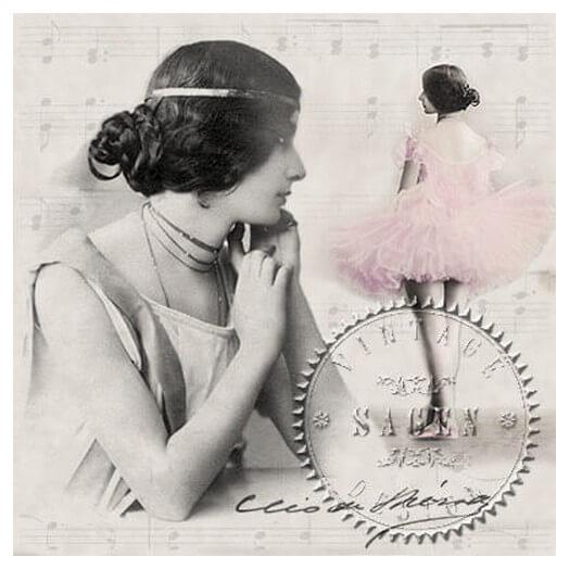 Χαρτοπετσέτα για Decoupage Vintage Cleo De Merode,1 τεμ.
