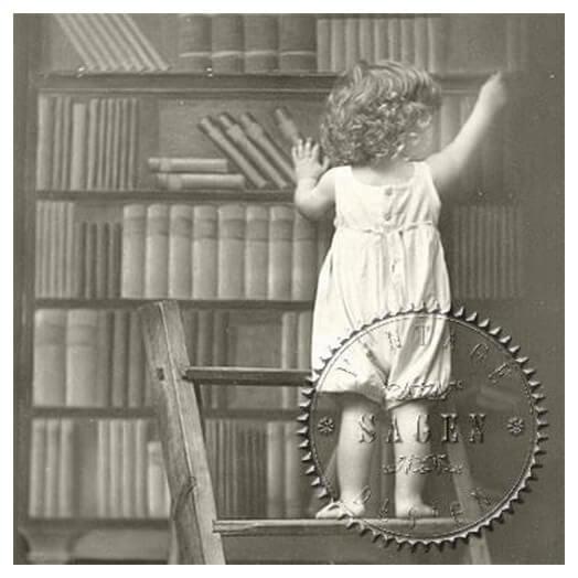 Χαρτοπετσέτα για Decoupage Vintage Library Boy, 1τεμ.