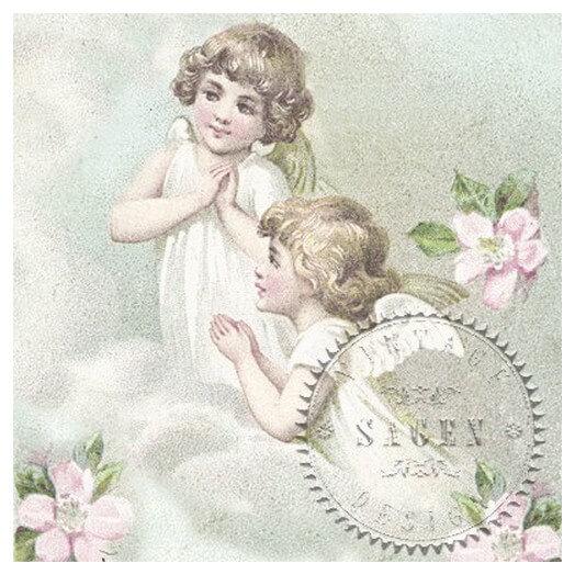Χαρτοπετσέτα για Decoupage Vintage Flower Fairies,1 τεμ.