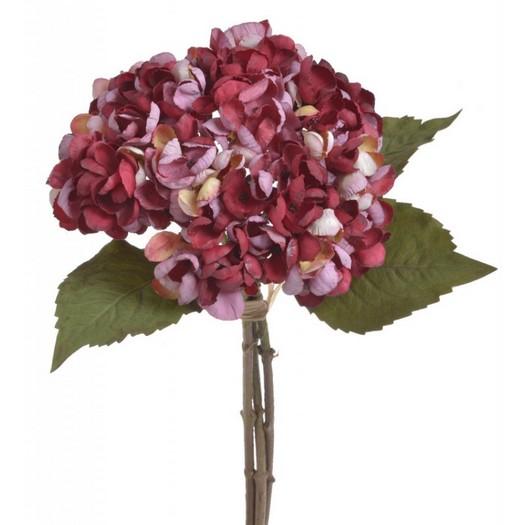 Ορτανσία μπουκέτο, 33cm, red pink