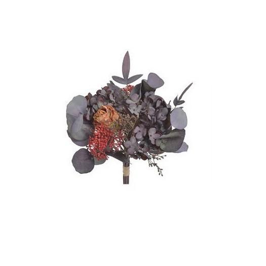 Μπουκέτο φθινοπωρινό με ορτανσία, 31cm, shabby brown
