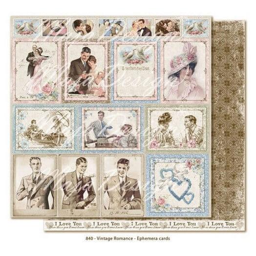 Χαρτί Scrapbooking Maja Collection Vintage Romance, διπλής όψης