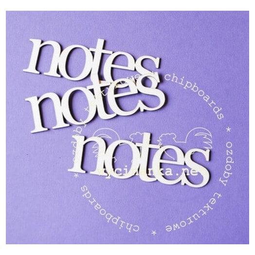 Διακοσμητικά Chipboard Notes, 2,5x7,5 cm, 3 τεμ.