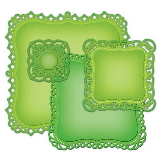Μήτρες Spellbindels, Decorative Labels 1, σετ 4 τεμ.