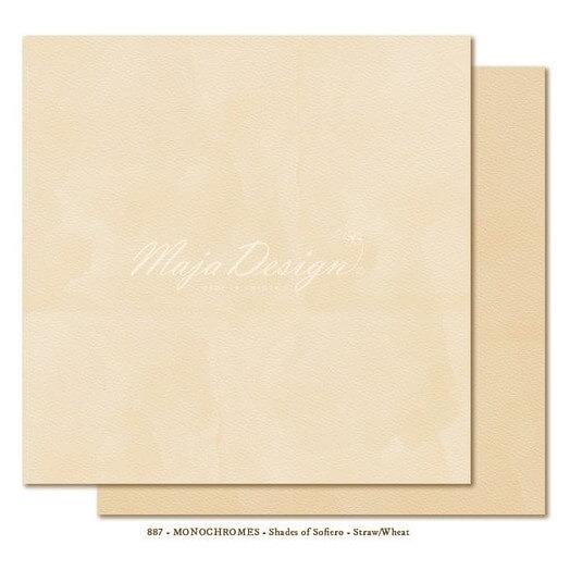 Χαρτί Scrapbooking Maja Collection, Monochromes- Straw/Wheat, διπλής όψης