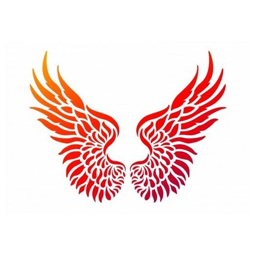 """Stencil A4 Viva Decor,  """"Wings"""""""