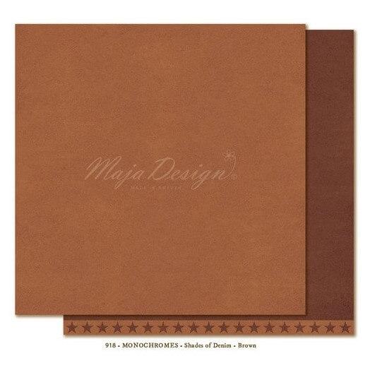 Χαρτί Scrapbooking Maja Collection, Monochrome - Shades of Denim / Brown, διπλής όψης