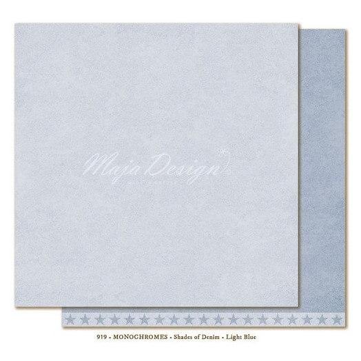 Χαρτί Scrapbooking Maja Collection, Monochrome - Shades of Denim / Light Blue, διπλής όψης